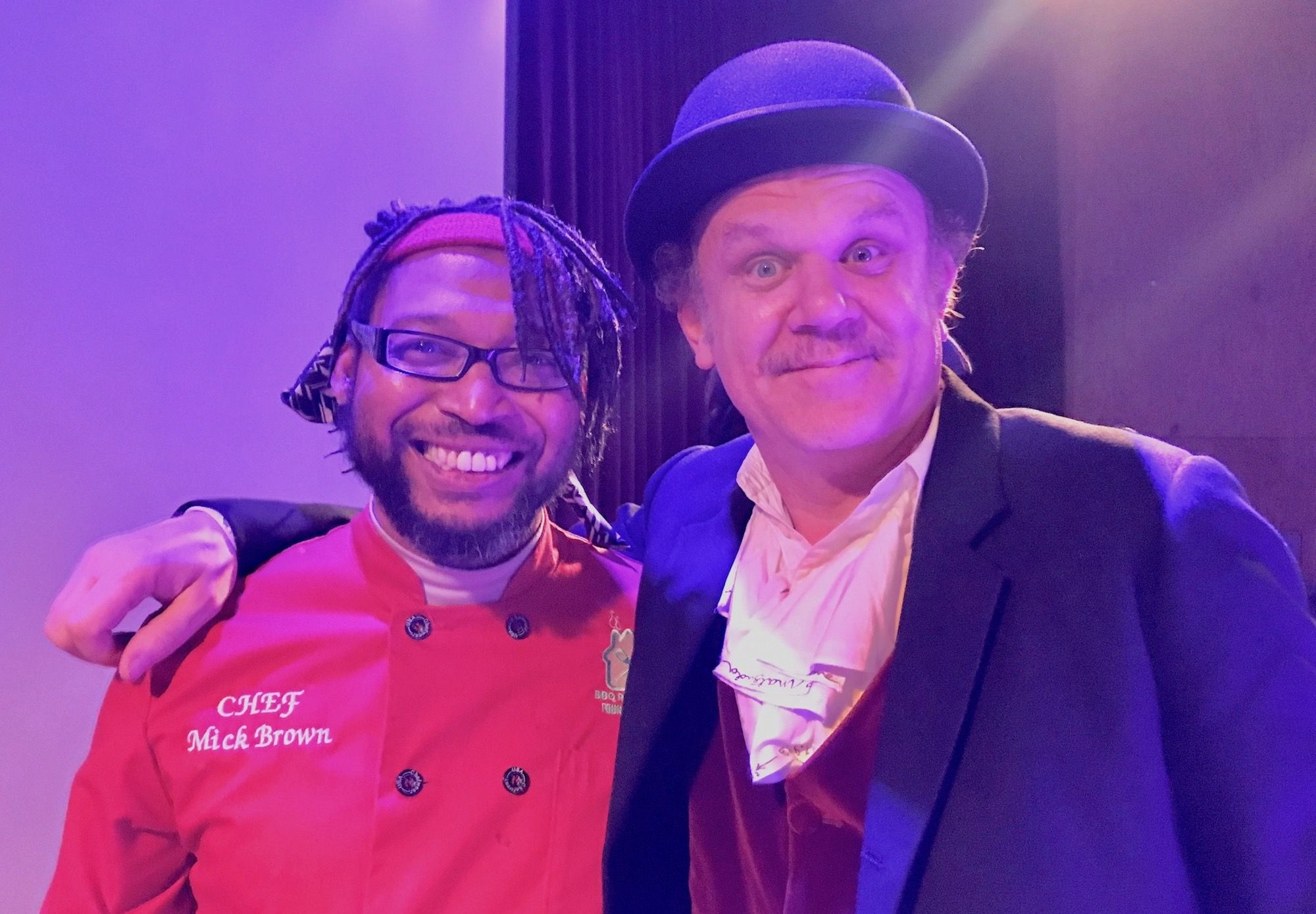 At Bootleg Dance Theater fundraiser Chef Mick Brown with actor John C, Reilly