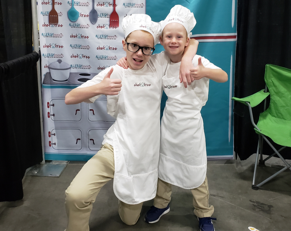 Chef Free kids celebrate success at the My Gluten Free World Expo (Sept 2019).
