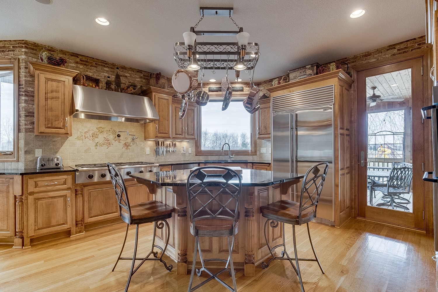 Gourmet kitchen in the home for sale on the Refuge