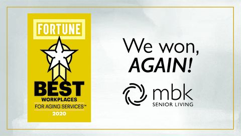 MBK Senior Living Named Best Workplaces For Aging