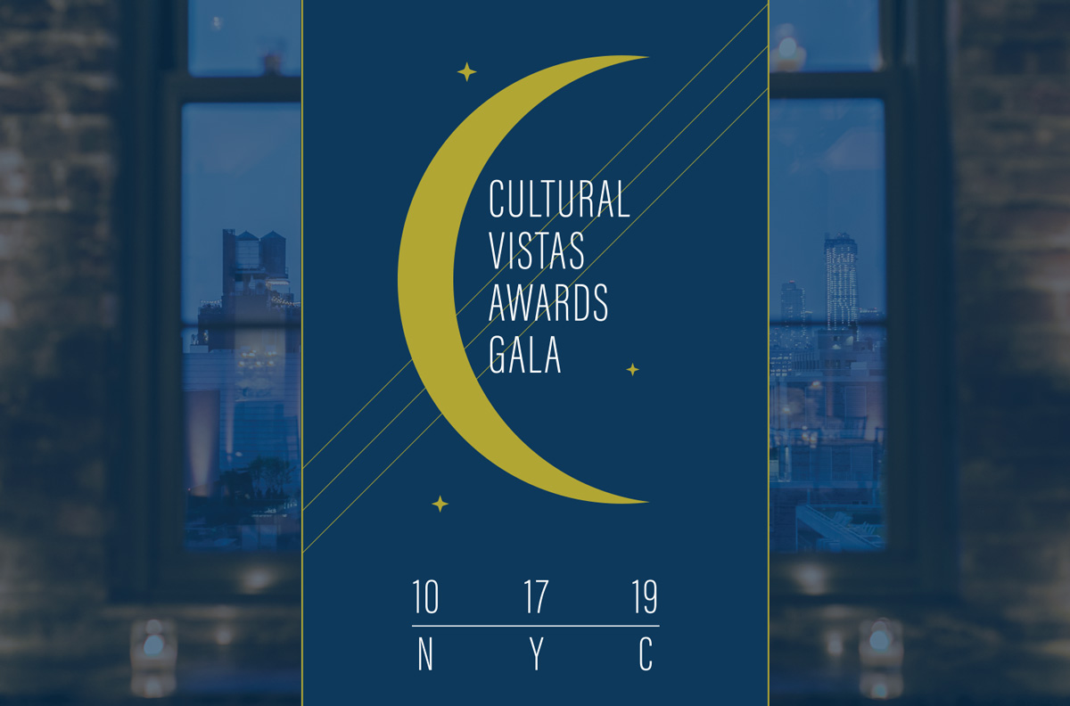 The Cultural Vistas Awards Gala will take place Thursday, October 17 in NYC.